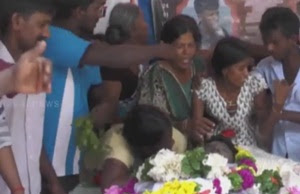 Jaffna University students killing: Funeral held for Nadarajah Gajan today!