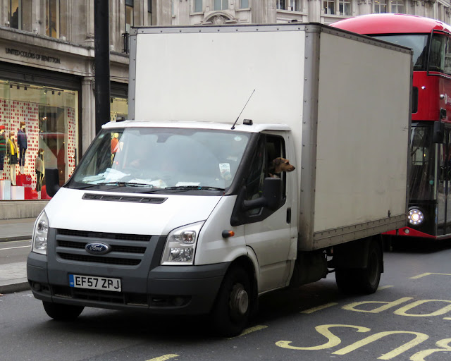 Ford Transit van, Regent Street, London