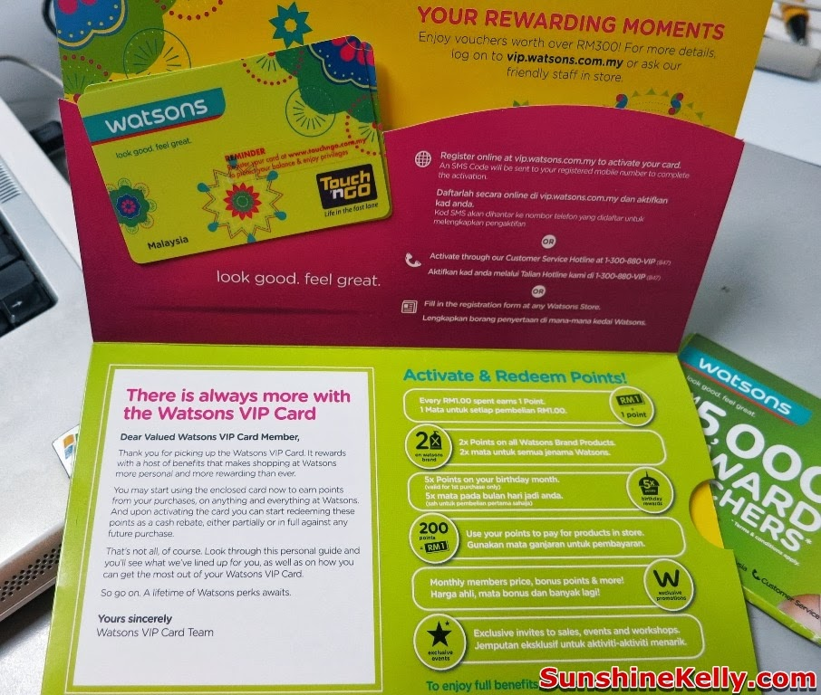 Sunshine Kelly Beauty Fashion Lifestyle Travel Fitness Watsons Vip Card With Touch N Go