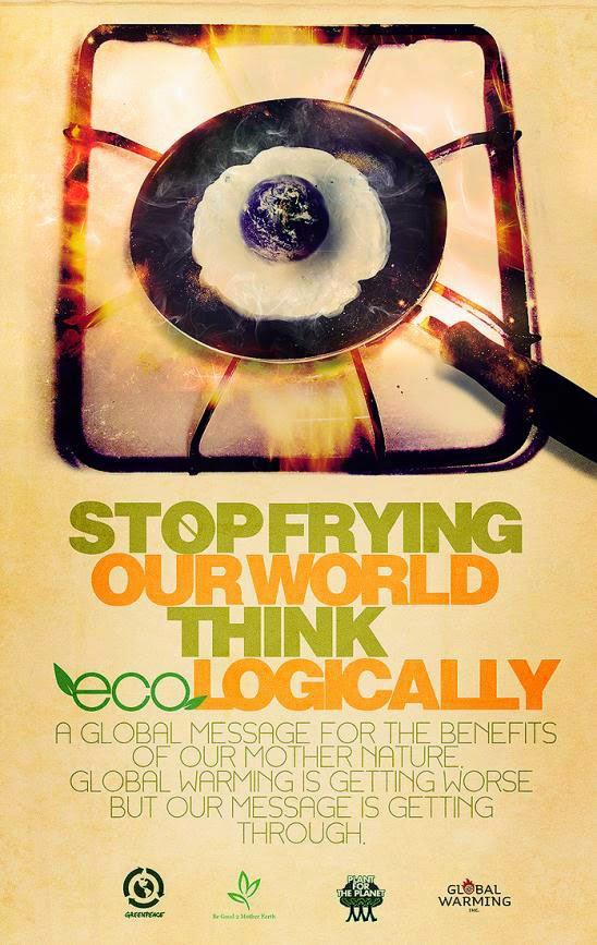 Inspirasi Poster Lingkungan Hidup dan Global Warming