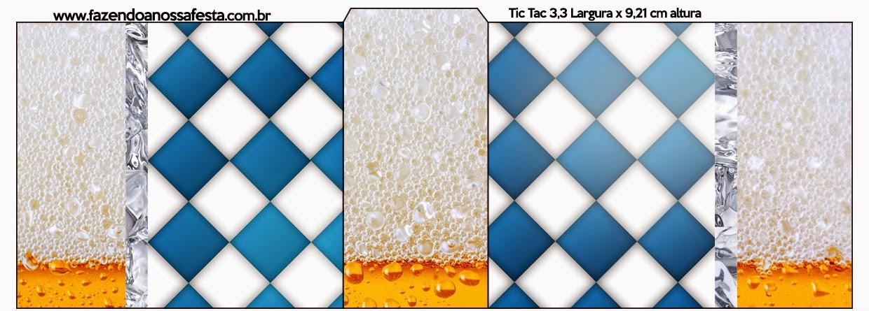 Etiqueta Tic Tac para imprimir gratis de Fiesta de la Cerveza.