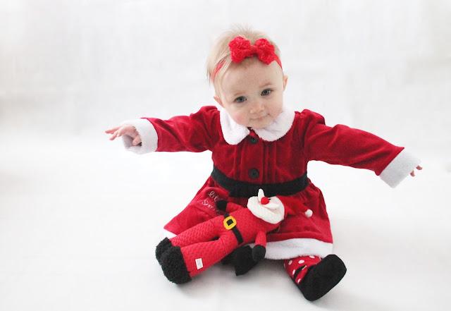 baby girl santa dress