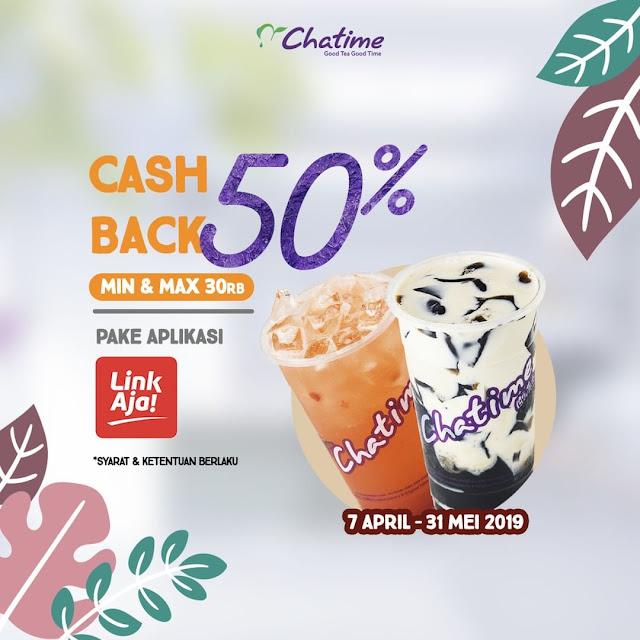 #Chatime - #Promo Cashback 50% Pakai LINK AJA (s.d 31 Mei 2019)