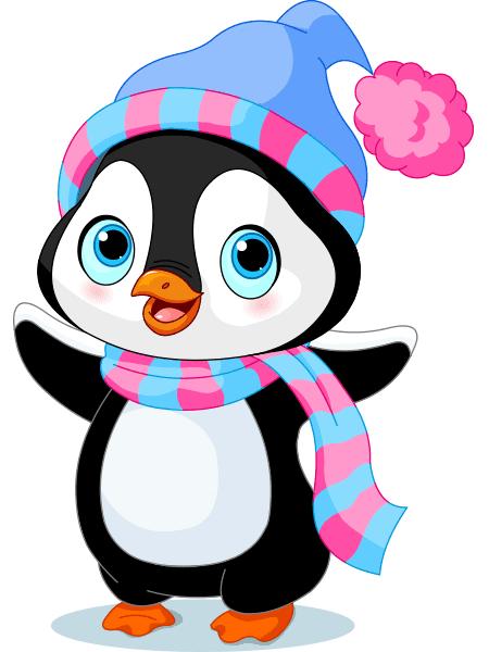 Cheerful Penguin Sticker