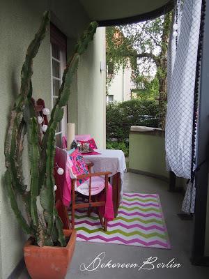 Rund um Terrasse oder Balkon: Mut zu Farbe beweist Bloggerin Doreen von Dekoreen Berlin