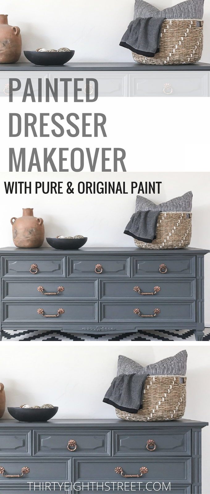 how to paint a dresser, paint your own dresser, painting a dresser with chalk paint, painting a dresser, chalk paint dresser, grey dressers, grey painted dresser