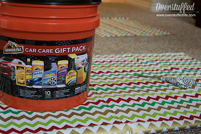 How to make santa bag out of cute christmas fabric to wrap oddly shaped Christmas gift