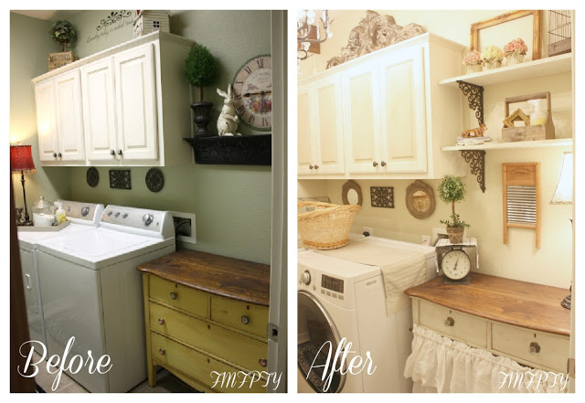 Laundry Room Makeover- French Farmhouse
