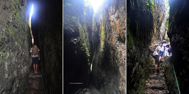 celah sempit gunung api purba Nglanggeran, sensasional  ©Jelajahsuwanto