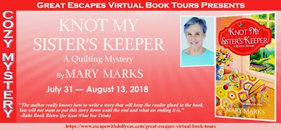 Review + Tour GIVEAWAY: Knot My Sister's Keeper by Mary Marks