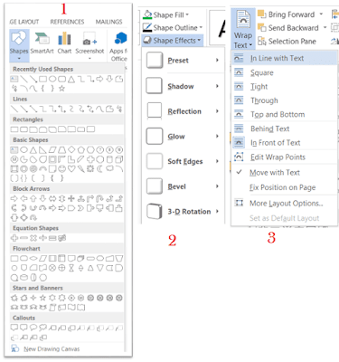 shape and shape format in microsoft word - rean computer 101