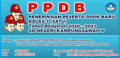 PPDB SDN Kampungsawah V - Karawang Tahun 2020
