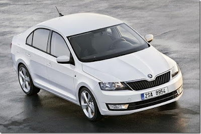 New Skoda Rapid Facelift white image