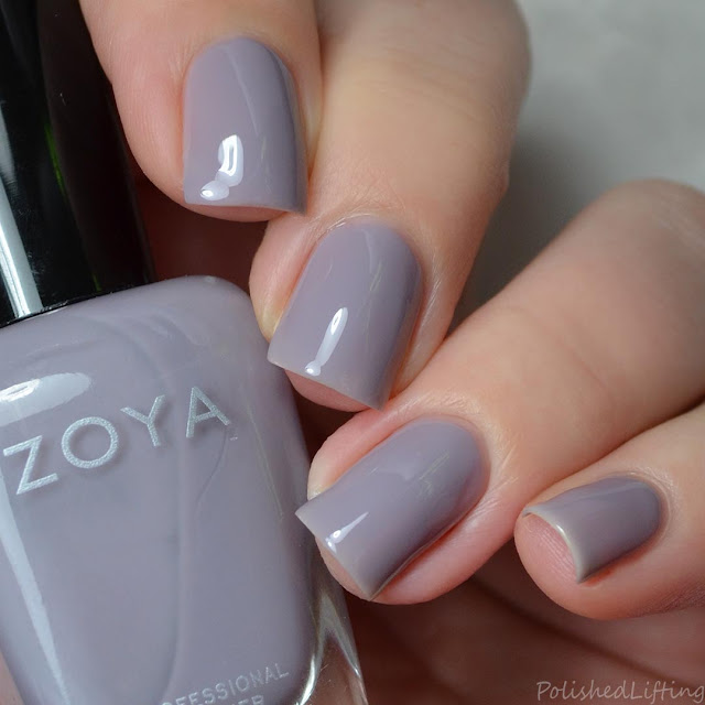 gray crelly nail polish