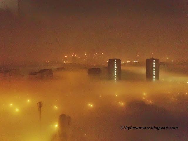 туман в варшаве