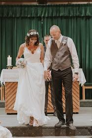 Wedding photo by Heather Clark Photography - Burlap wedding bouquet by GypsyFarmGirl