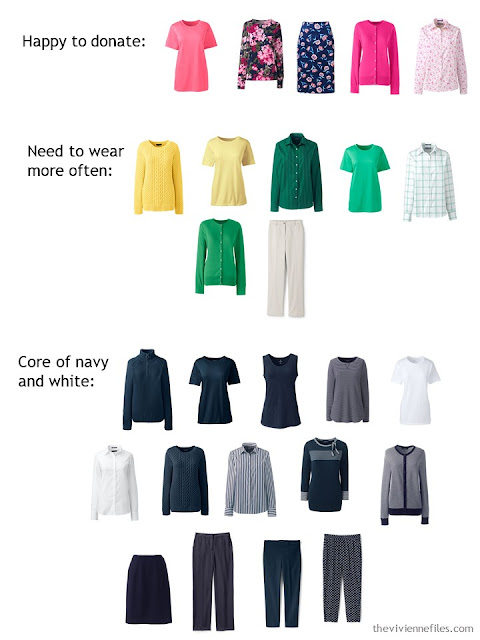 Cleaning out a capsule wardrobe that needs focus