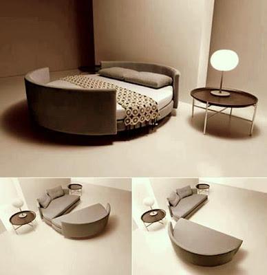 Rekaan Moden, Unik, Kreatif dan Menarik Perabot di Ruang Tamu, Bilik Dan Pejabat - sofa katil
