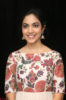 Ritu Varma smiling face Cream Anarkali dress at launch of OPPO New Selfie Camera F3 ~  Exclusive 024.JPG