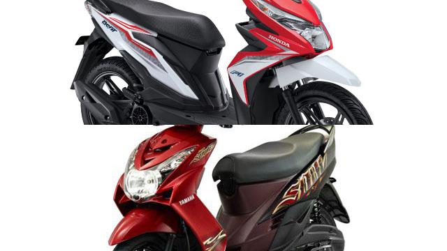 Harga Skutik Honda Yamaha Rp 9 - 10 Jutaan