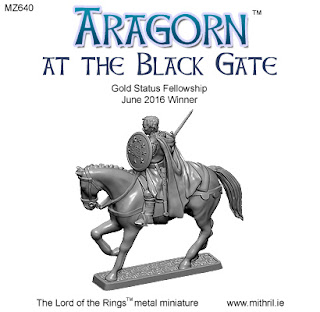 Aragorn at the Black gate metal figure from Mithril Miniatures