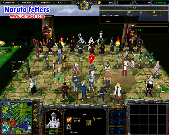 Naruto Fetters V705 Map Download Game2f
