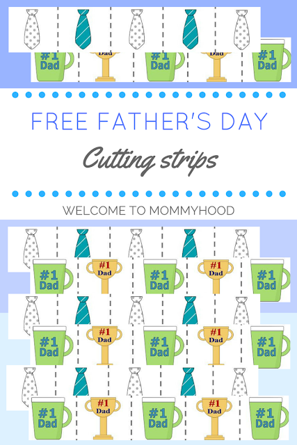 Father's Day Cutting Strips by Welcome to Mommyhood #fathersday, #fathersdayrecipes, #holidays, #montessori, #preschoolactivities