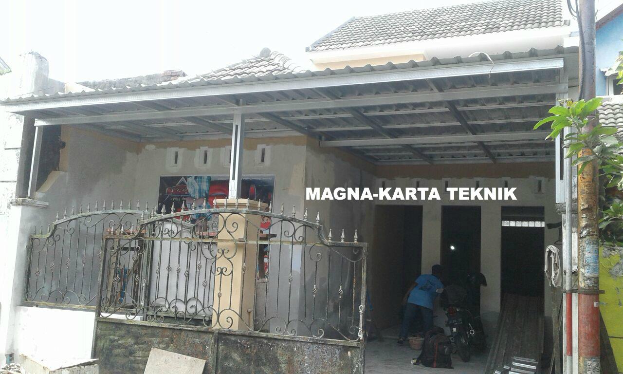 Bengkel canopy galvalum kanopi baja ringan Sidoarjo Surabaya Gresik