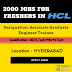 Very Urgent Hiring for Freshers at HCL at across India: Apply Now