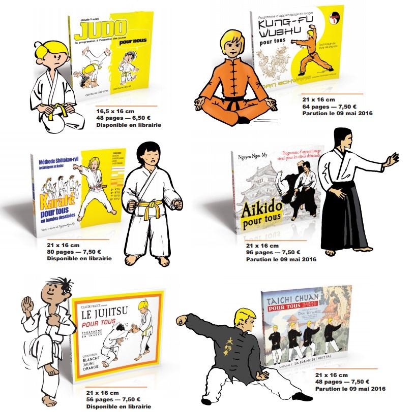 Judo, Karaté, Jujitsu, Kung-Fu, Aïkido, Tai Chi Chuan : les manuels pour enfants !