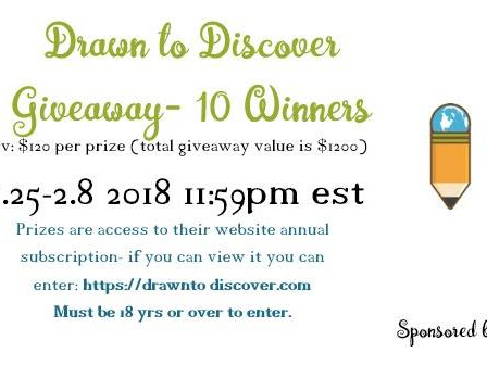 Drawn to Discover #Giveaway