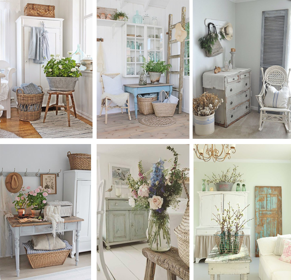 como decorar salón vintage con muebles recuperados y accesorios