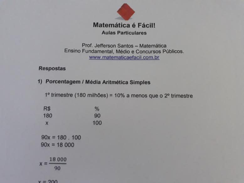 Estude para concursos públicos com provas resolvidas de Matemática!