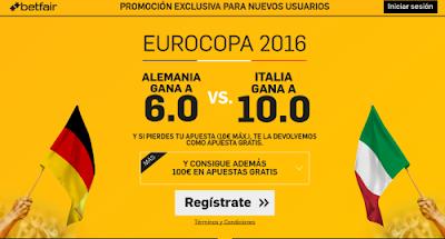 betfair Alemania o Italia ganan supercuota Eurocopa 2016 2 julio