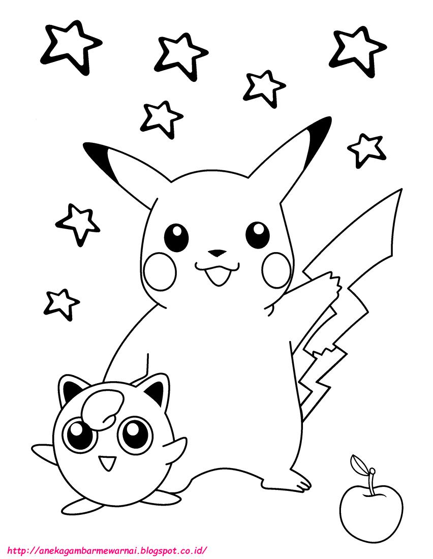 5 Gambar Mewarnai Pokemon Untuk Anak PAUD dan TK Aneka