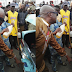 Governor Ayo Fayose pictured buying petrol from black market hawkers in Ekiti state