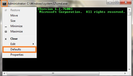 change text and background color in command prompt cmd