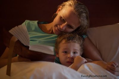 Host a Halloween Bedtime story or Movie for your kids to End Halloween on a good note.