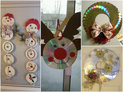 14 ideas para hacer adornos de navidad con cds - Adornos navidad reciclados para ninos ...