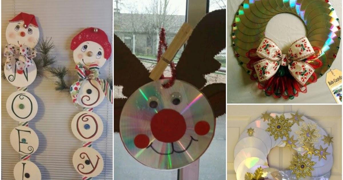 14 ideas para hacer adornos de navidad con cds - Manualidades con cd viejos ...