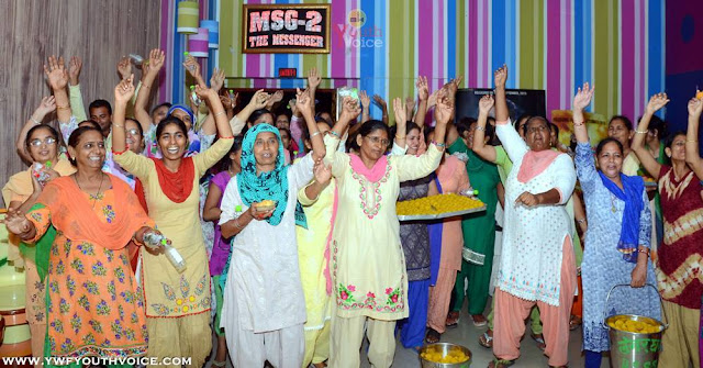 Fans Celebrating MSG 2 Movie Success, MSG 2 The Messenger Movie Completed 300 Days, Download MSG 2 The Messanger MP3 Music High Quality, MSG2 Movie Crossed 500 crore, MSG 2 boxoffice collection, MSG The Online Gurukul, Lionheart MSG The Warrior, #300DaysOfMSG2