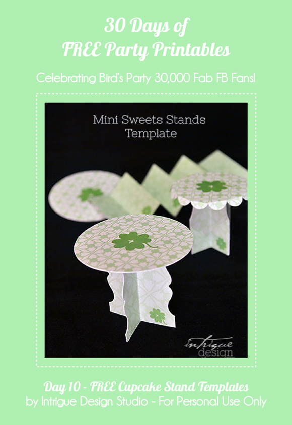 Free Printable Mini Paper Cupcake Stands - via BirdsParty.com