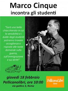Incontro in libreria Pellicanolibri - Marco Cinque incontra gli studenti
