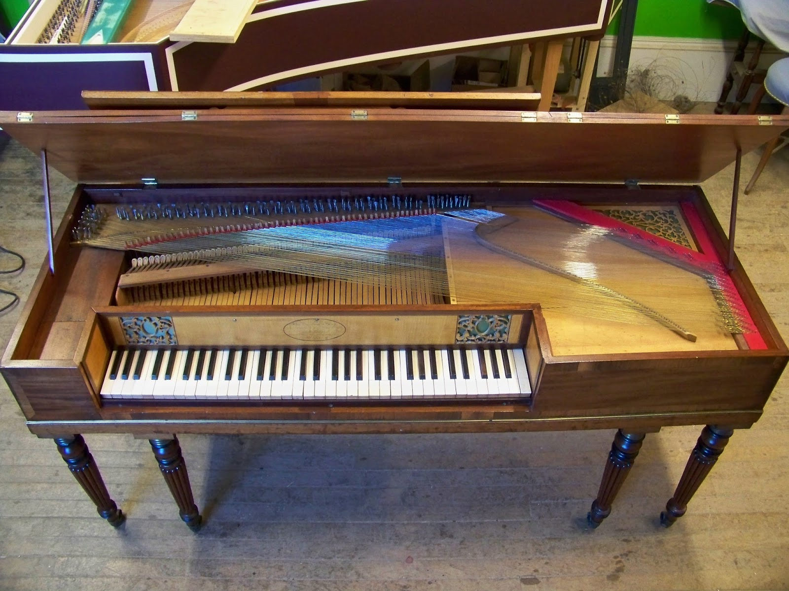 antiquarian keyboard instruments john broadwood sons square piano for sale sold. Black Bedroom Furniture Sets. Home Design Ideas