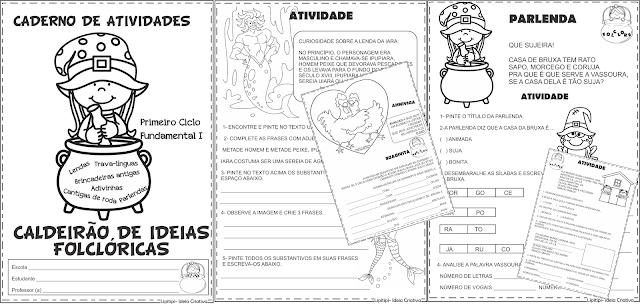 Caderno Caldeirão de Ideias Folclóricas Primeiro Ciclo Fundamental I