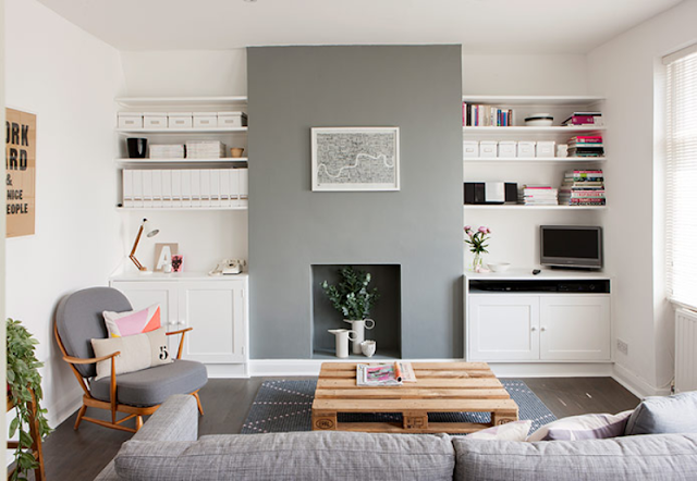 desain simpel untuk ruang keluarga
