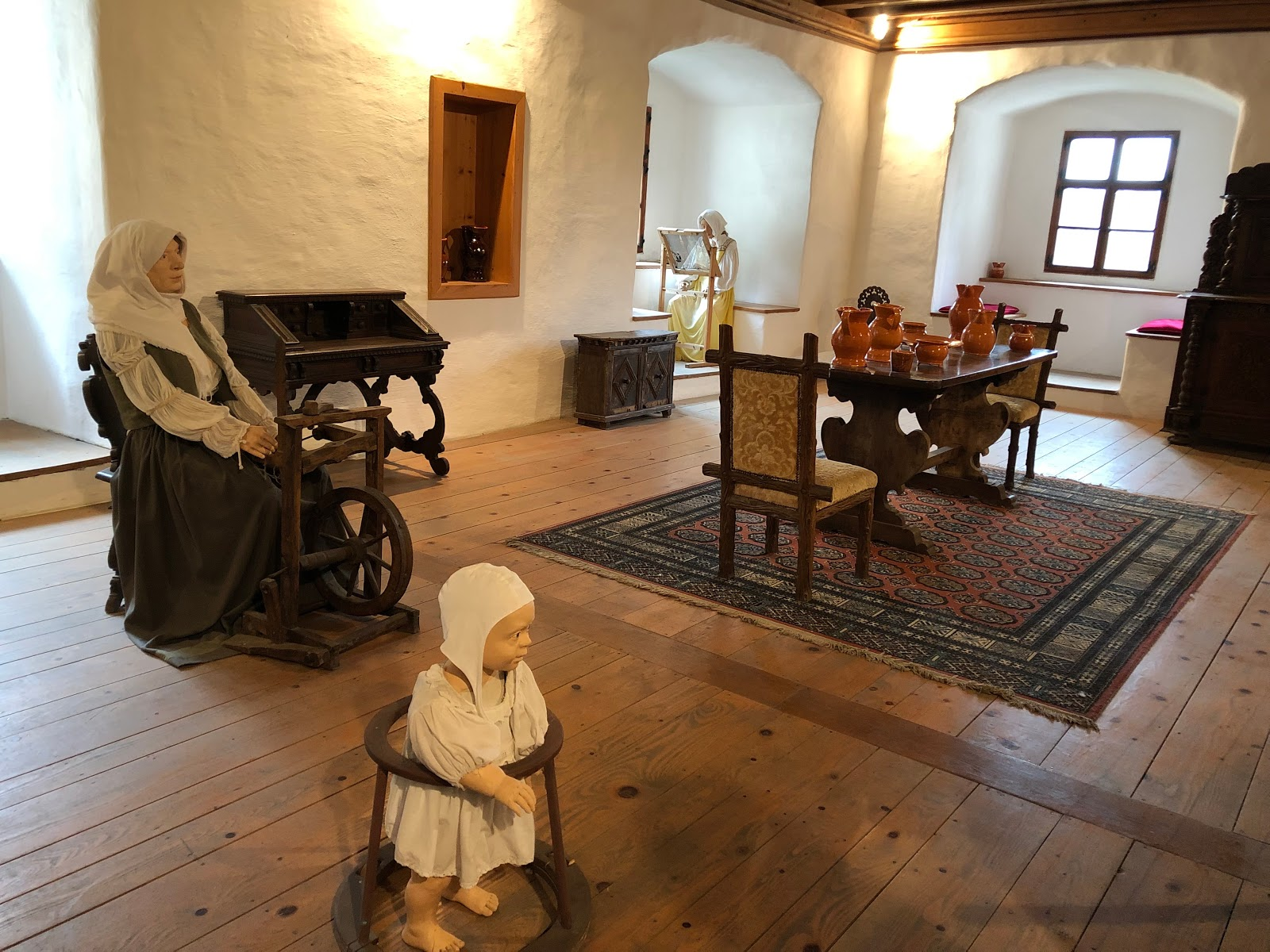 Walker for the kids during the medival period displayed in the Predjama Castle