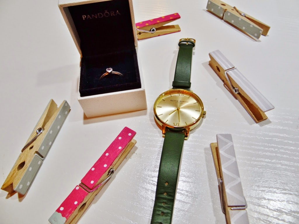 olivia burton big dial watch green