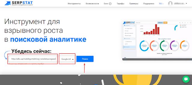 Продвижение страницы сайта на реальном примере