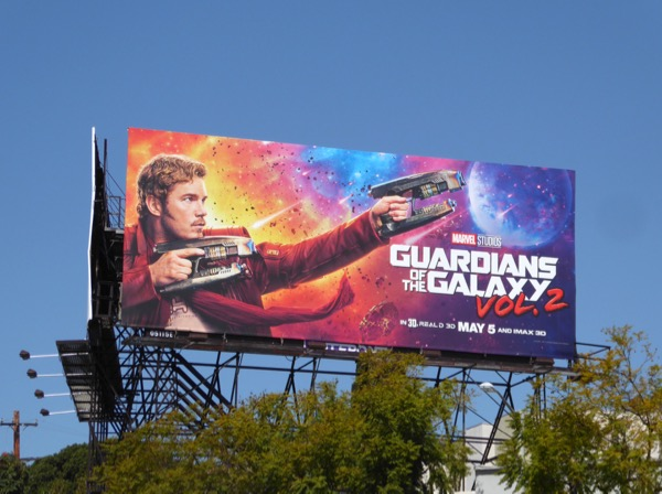 Guardians of the Galaxy 2 StarLord billboard